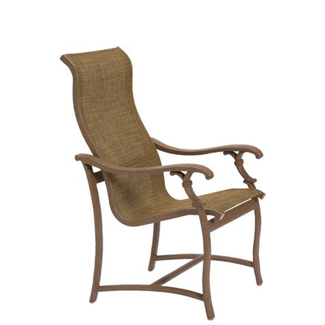 tropitone 650701 ravello sling high back dining chair