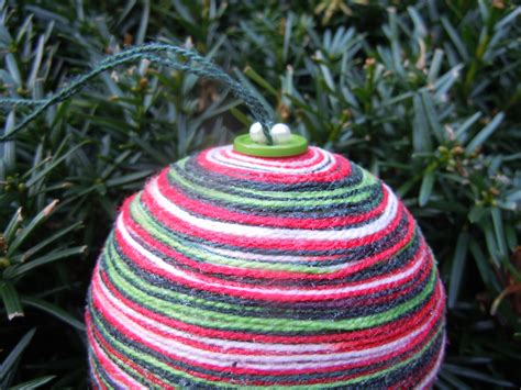 shades of christmas yarn ornaments