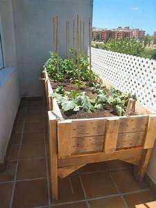 Bac En Bois Pour Potager : carr potager sur lev et bac fleurs sur pied fiche ~ Dailycaller-alerts.com Idées de Décoration
