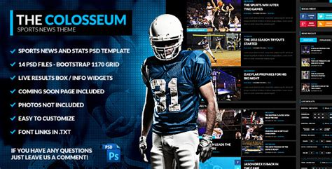 photoshop sports templates the colosseum sports magazine psd template by odin design themeforest