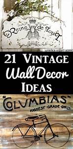 21 Diy Vintage Wall Decor Ideas