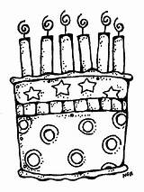 Birthday Cake Clip Happy Clipart Melonheadz Coloring Stamps Pages Cards Bday Cakes Digi Colouring America Birthdays Melonheadzillustrating Freebie 6th Decor sketch template