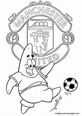 Coloring Pages Soccer Manchester United Colouring Patrick Printable Star Madrid Club Maatjes Getcolorings Gete Goku Munich Arsenal Fc Want sketch template