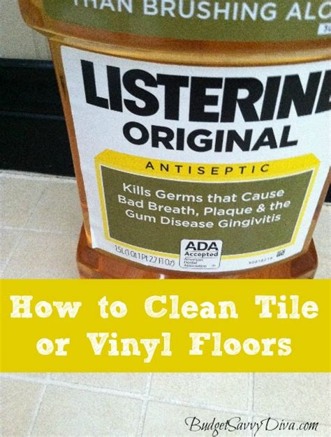 how to clean tile or vinyl floors budget savvy