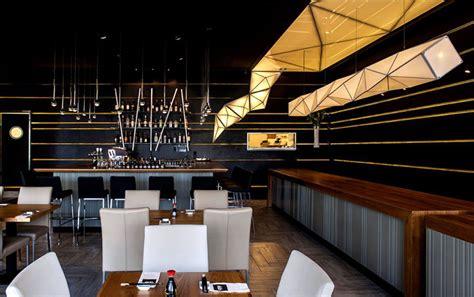 sushi restaurant  origami lights interiorzine