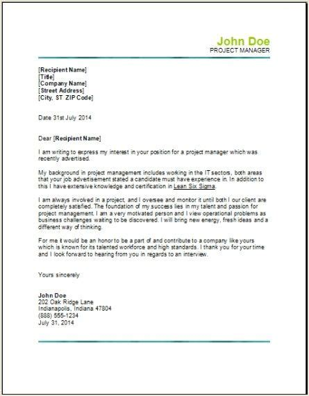 Cover Letter For Project Manager Application by Best 25 Project Manager Cover Letter Ideas On