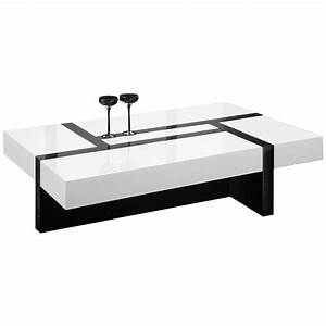 Table De Salon But : table de salon rectangulaire noir et blanc ~ Dallasstarsshop.com Idées de Décoration