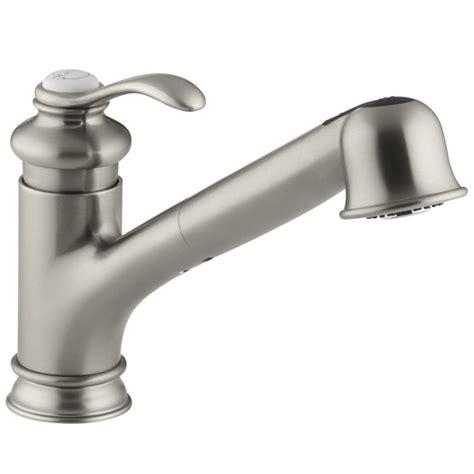Kohler Brushed Nickel Kitchen Faucet by Kohler K 12177 Bn Fairfax Pull Kitchen Faucet