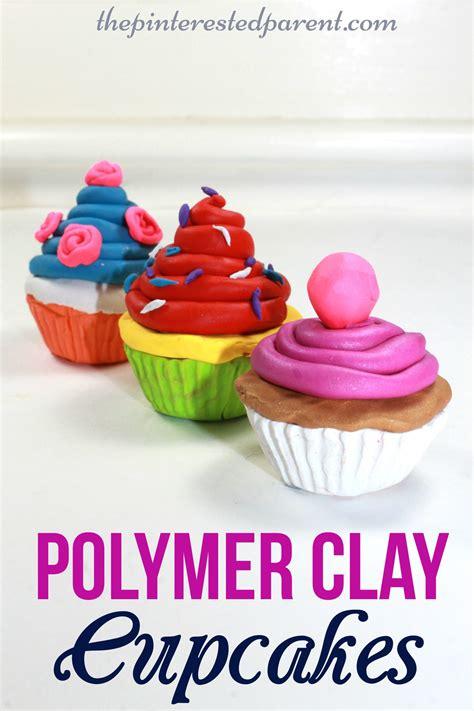 polymer clay cupcake craft  pinterested parent