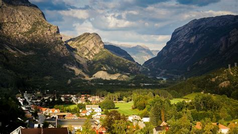 fjord, Norway, Village, Town Wallpapers HD / Desktop and ...