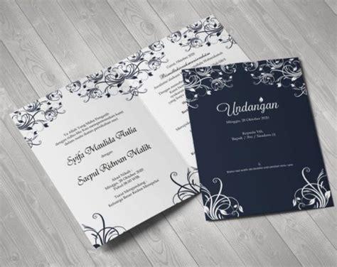 undangan pernikahan simple  elegan pernikahan