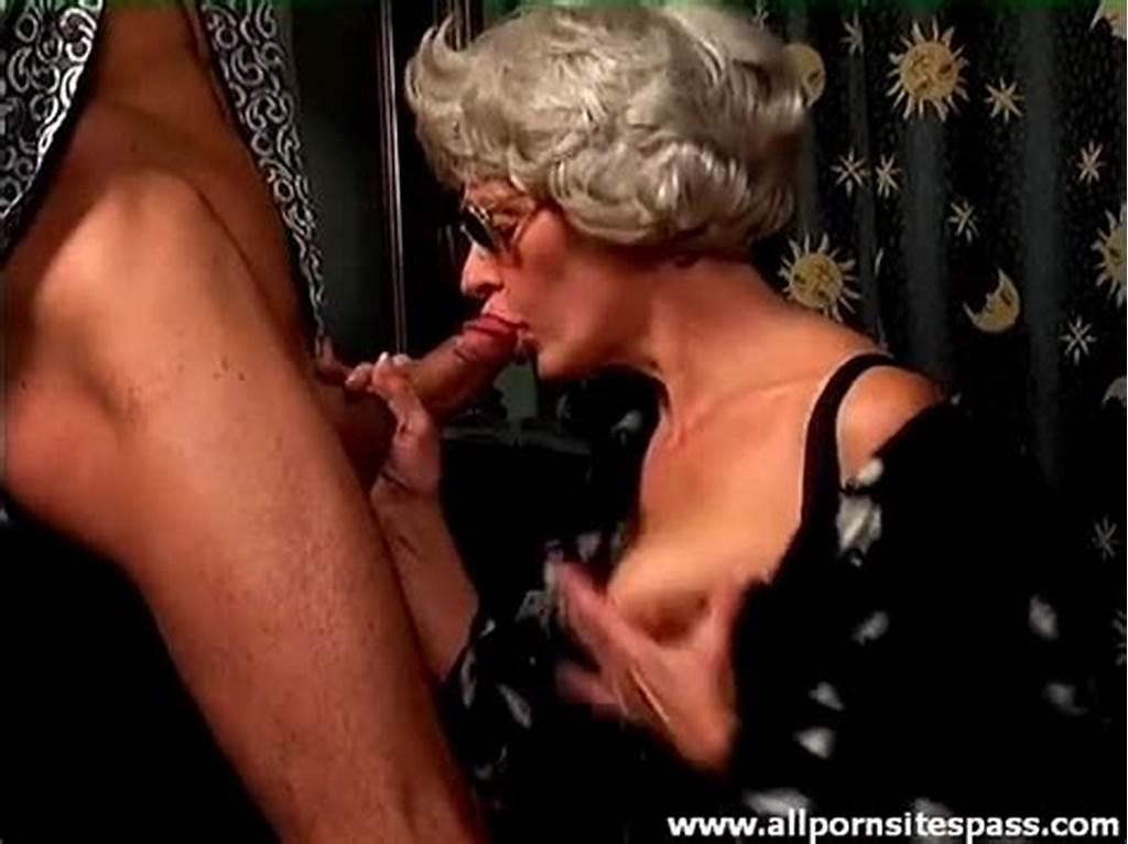 #Gray #Hair #Granny #On #Her #Knees #Sucking #Cock