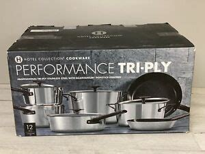hotel collection  pc performance tri ply nonstick cookware set  open box ebay