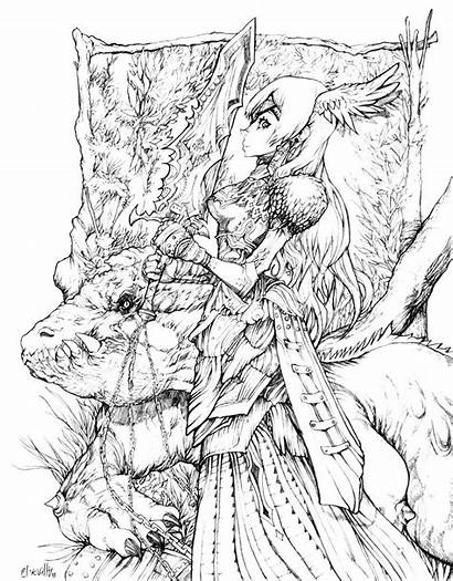 Coloring Pages Adults Detailed Fantasy Adult