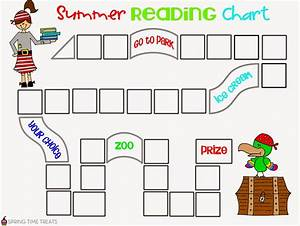 Spring Time Treats  Summer Pirate Reading Chart  Free Printable