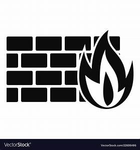 Firewall Icon Simple Style Royalty Free Vector Image