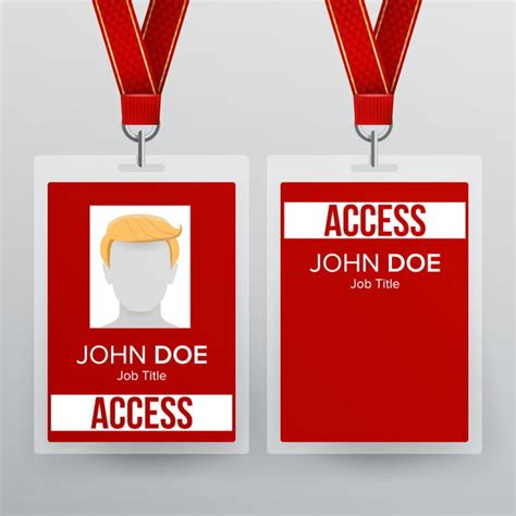 press pass id card vector plastic badge template  business