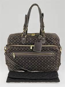 louis vuitton brown mini lin canvas diaper bag yoogis