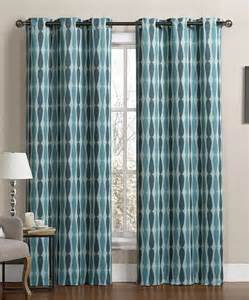 victoria classics teal blue monsoon blackout curtain panel