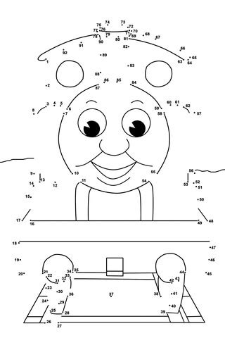 thomas  friends dot  dot  printable coloring pages