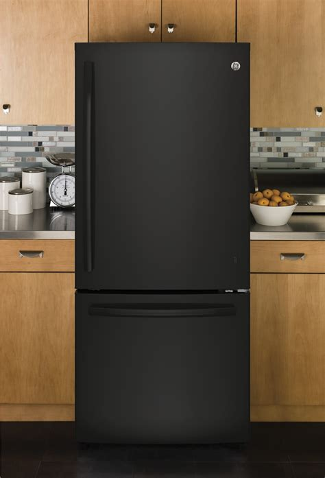 gbedgkbb ge  bottom freezer refrigerator  cu ft black
