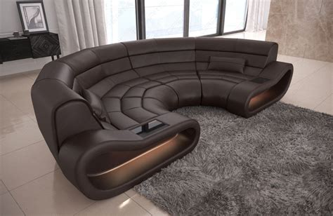 big sofa leder luxury big sofa concept modern design relax genuine leather led lights ebay