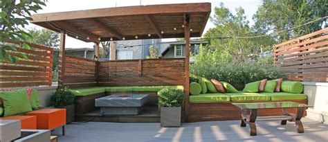 contemporary deck with fence by chicago specialty gardens
