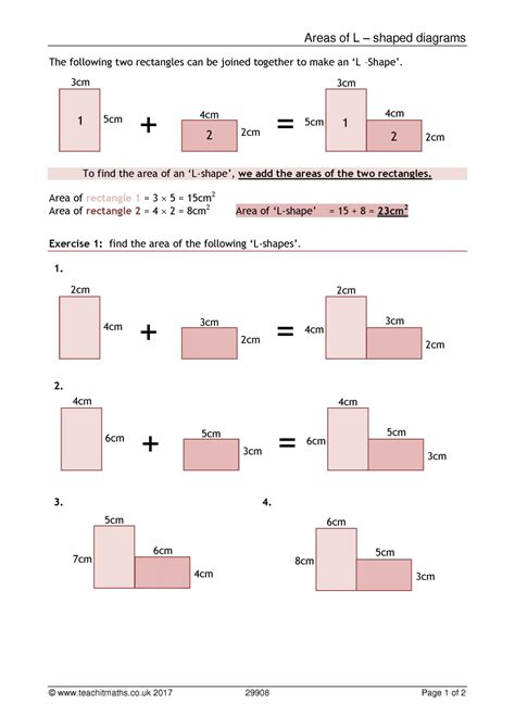 ks area  perimeter compound shapes teachit maths