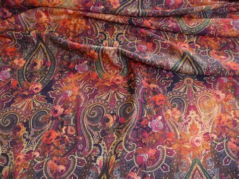 Stoffe Orientalische Muster by Viskose Stoffe Meterware Stoff Ornamente Blumen