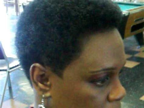 ladies afro haircut youtube