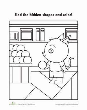 hidden shapes picture shapes worksheets shape pictures