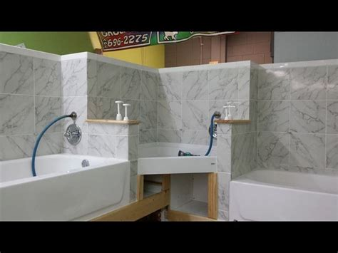 bathing room  tub set  grooming salon dog grooming