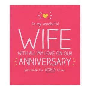 Happy Anniversary Cards Wife