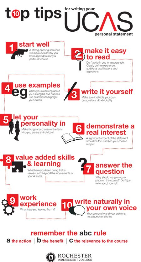 top tips  writing  ucas personal statement