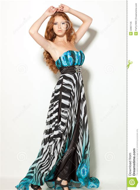 fashion model fashion model posing in chiffon dress royalty free stock photo image 22807135