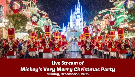 live streaming of mickey s very merry christmas party december 6th 2015