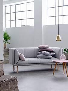 Canapé Scandinave Rose : canap gris moderne 55 mod les d angle ou droits fonc s ~ Teatrodelosmanantiales.com Idées de Décoration