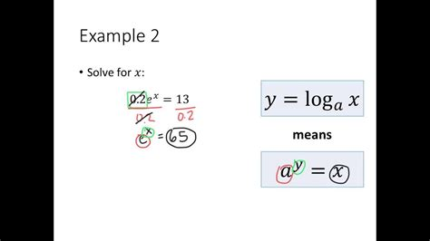 converting  logarithmic  exponential equations