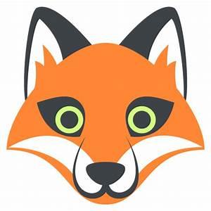 Fox Face Emoji Vector Icon | Free Download Vector Logos ...