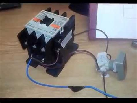 how to single magnetic contactor with push switch