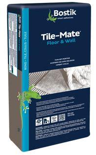 bostik tile mate floor wall thin set mortar white g00712