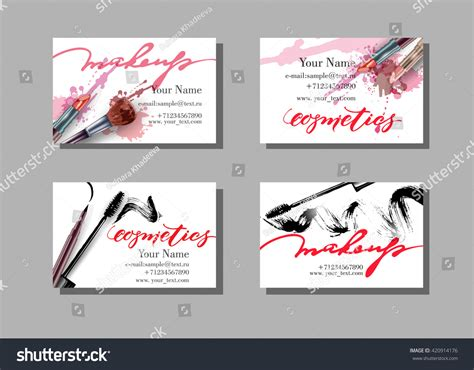 Makeup Artist Business Card Vector Template Vectores En Business Card Ideas For Lawn Care Images Hd Download Luxe Designs Latest Making District