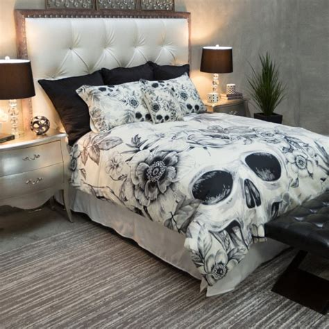 top 28 skull comforter set skirts pink black and