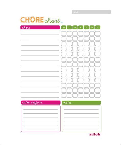 weekly chore chart weekly chore chart template 11 free word excel pdf format free premium templates