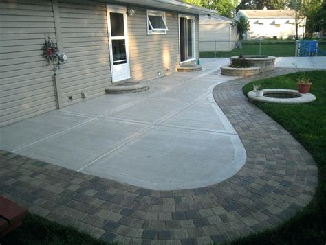 Small Backyard Concrete Patio Designs by Backyard Cement Designs Patio Ideas Concrete Small