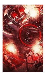 black and red camera illustration, Lacza, digital art ...