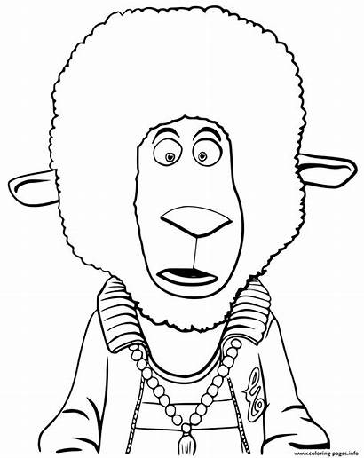 Sing Coloring Pages Eddie Animation Noodleman Sheep