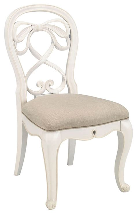 lea elite vintage boutique vanity desk chair with fabric