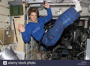 Astronaut Eileen M. Collins Weightless And Floating In Sts ...
