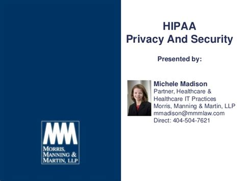 Hipaa Privacy And Security 03192014